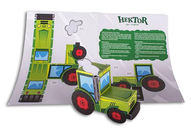 neu toller traktor zum selber basteln mit dem 3d. Black Bedroom Furniture Sets. Home Design Ideas