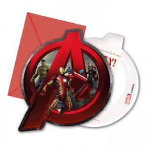 """Einladungskarten """"Avengers - Age of Ultron"""" 6er Pack"""