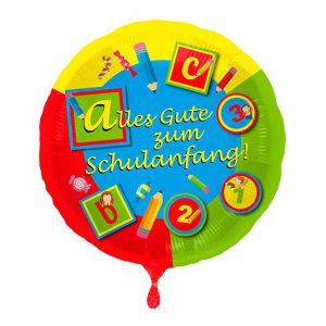 "Folien-Ballon ""Erster Schultag"" 42 cm"