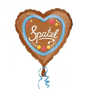 "Folienballon Herz ""Spatzl"" 43 cm"