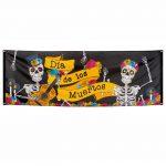 """Banner """"El día de los Muertos"""" 220 x 74 cm"""