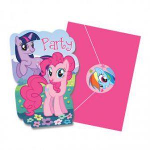 """Einladungskarten """"My Little Pony"""" mit Umschlag + Sticker 8er Pack"""