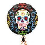 "Runder Folien-Ballon ""Dia de los Muertos"" 43 cm"
