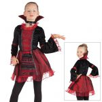 "Kinder-Kostüm ""Vampir-Königin"" 2-tlg."