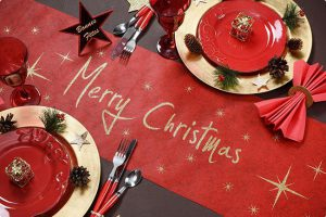 """Tischläufer """"Merry Christmas"""" 5 m"""