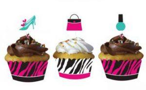 """Banderolen mit Deko für Muffins """"Girlie-Party"""" 24-tlg."""