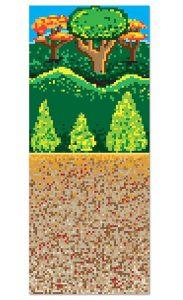 "Wanddeko ""Verpixelter Wald"" 1,22 x 9,14 m"