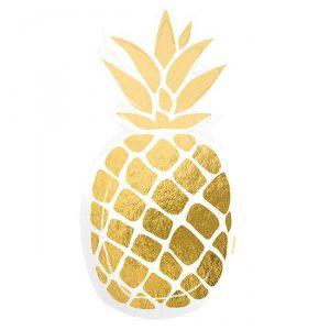 """Kleine Form-Pappteller """"Sommerliche Ananas"""" 6er Pack"""