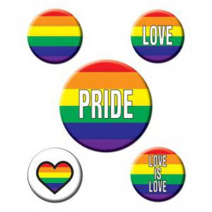 """Party-Buttons """"Love is Love"""" 5er Pack"""