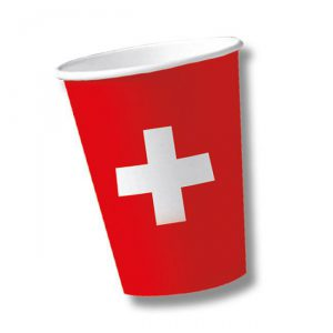 "Pappbecher ""Schweiz"" 10er Pack"