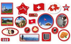 "XXL-Konfetti ""Schweiz"" 57-tlg."