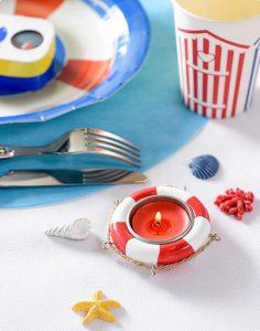 """Teelichthalter """"Rettungsring"""" 6 cm"""