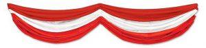 """XXL Deko-Tuch """"Rot-Weiß"""" 178 cm"""
