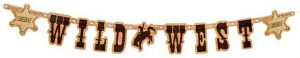"""Buchstaben-Girlande """"Wild Cowboy"""" 110 cm"""