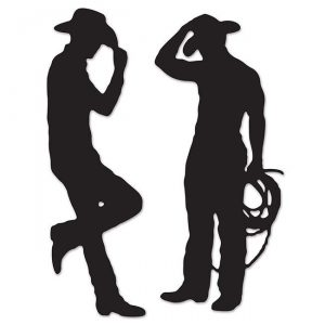 """Raumdeko """"Cowboy Schatten"""" 2-tlg."""