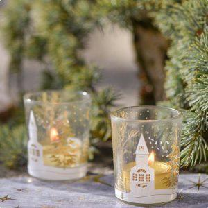 """Teelichthalter """"Winterwelt"""" 6,5 cm"""