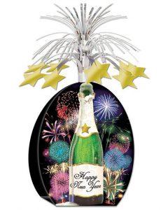 """Tischdeko Fontäne """"Happy new year"""" 33 cm"""