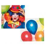 """Servietten """"Kunterbunter Clown"""" 12er Pack"""