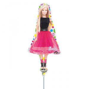 "Luftbefüllter Folienballon ""Bunte Barbie Welt"" 37 cm"