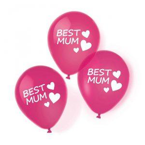 """Luftballons """"Best Mum"""" 6er Pack"""