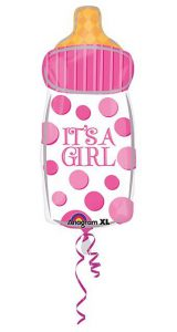 "XL Folien-Ballon ""It´s a girl"" 58 x 25 cm"
