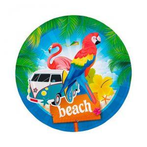 """Pappteller """"Beach-Party"""""""