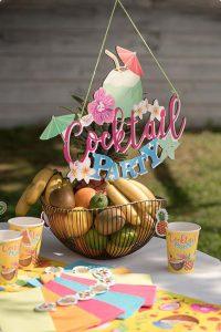 "Wanddeko ""Cocktail-Party"""