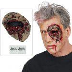 Einzelnes Zombie-Auge aus Latex