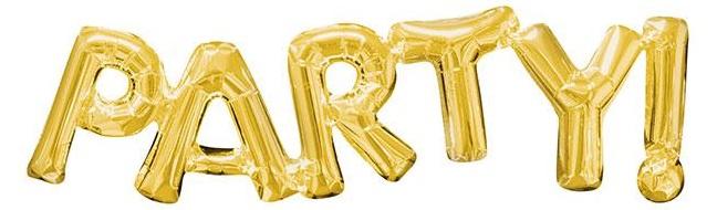 """Folienballon Schriftzug """"Party"""" 83 cm"""