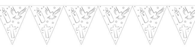 """Wimpel-Girlande """"Christliche Symbole"""" 6 m"""