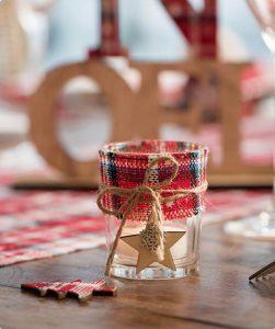 """Teelichthalter """"Winterliche Weihnacht"""" 6 cm"""