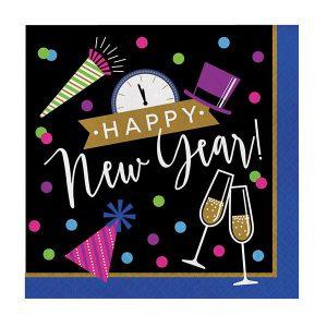 Servietten Buntes neues Jahr
