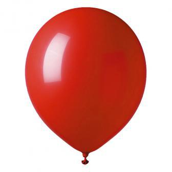 Einfarbige Luftballons 12er Pack-rot