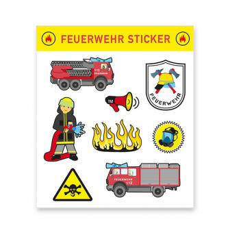 """Aufkleber """"Spannende Feuerwehr"""" 8-tlg."""