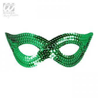"""Augenmaske mit Pailletten """"Glamour""""-grün"""