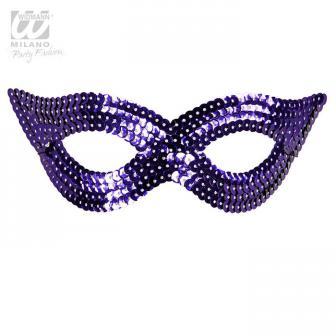 """Augenmaske mit Pailletten """"Glamour""""-lila"""