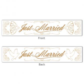 "Banner ""Just married"" 13 x 70 cm"