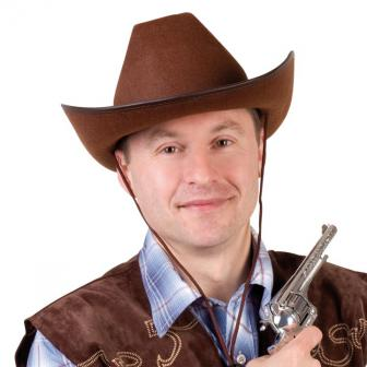 Brauner Westernhut Cowboy-Style