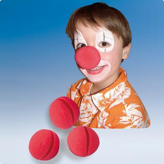 Clown Nase 4er Pack