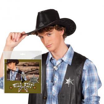 "Cowboy-Set ""Sheriff-Stern und Bolotie"" 2-tlg."