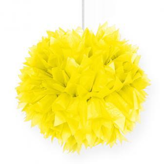 "Deckendeko ""Pom-Pom aus Wabenpapier"" 30 cm-gelb"