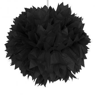 """Deckendeko """"Pom-Pom aus Wabenpapier"""" 30 cm-schwarz"""