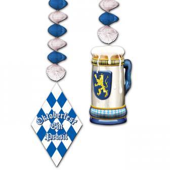 Deckenhänger Bayrische Raute und Bier 2-tlg.