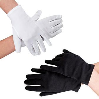 Einfarbige Handschuhe 23 cm
