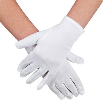Einfarbige Handschuhe 23 cm-weiß