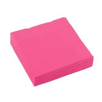 Einfarbige kleine Servietten 20er Pack-magenta