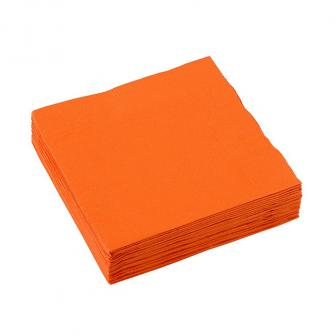Einfarbige kleine Servietten 20er Pack-orange