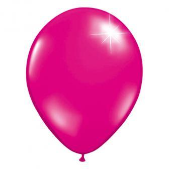 Einfarbige metallic Luftballons-10er Pack-magenta