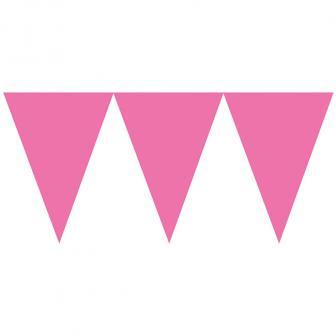 """Einfarbige Papier-Girlande """"Farbenspiel"""" 4,5m-pink"""