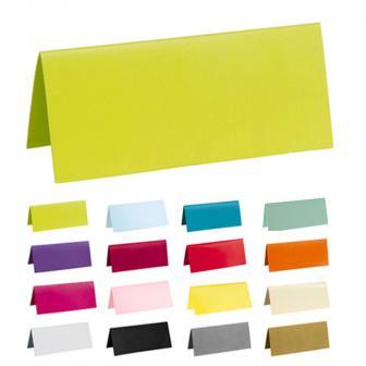 Einfarbige Tischkarten 10er Pack